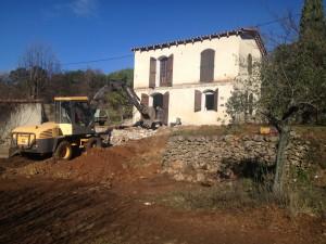 Début des démolitions et terrassement